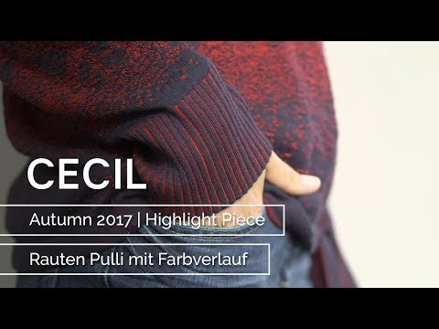 CECIL – Autumn 2017 – Highlight Piece Rauten Pulli mit Farbverlauf